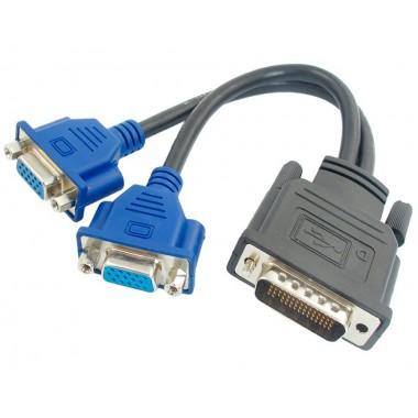 Кабель переходник DMS-59 на 2x VGA
