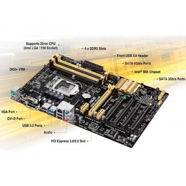 Материнская плата ASUS B85-PLUS с процессором Intel Core i3-4150